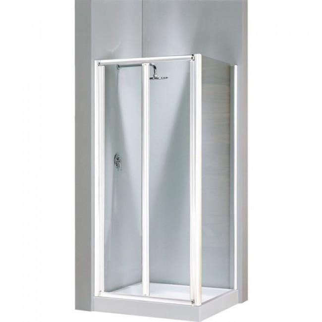 Porte de douche pliante verre transparent Lunes S - 96 à 102 cm NOVELLINI