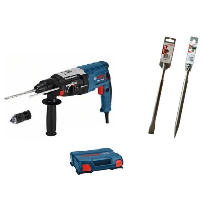 Perforateur burineur SDS-Plus GBH 2-28 F 0611267600 + kit 2 burins BOSCH