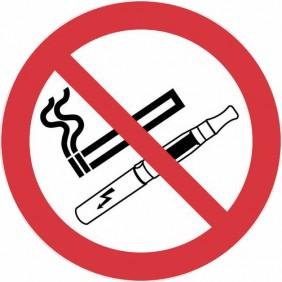 Disque adhésif - défense de fumer et de vapoter NOVAP