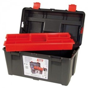 Boîte à outils incassable - plateau amovible - 445 x 235 x 230 mm TAYG