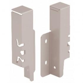 Raccords de paroi arrière pour tiroir ArciTech-H126 mm-argent HETTICH