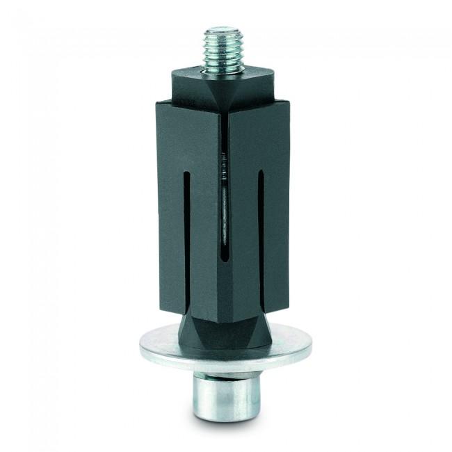 Fixations expansibles pour roulettes - tube carrée - inox TENTE
