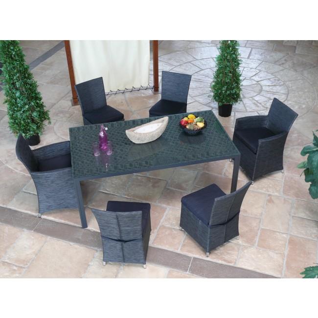 fauteuil de jardin aluminium et textil ne gris antracite fig bricozor. Black Bedroom Furniture Sets. Home Design Ideas