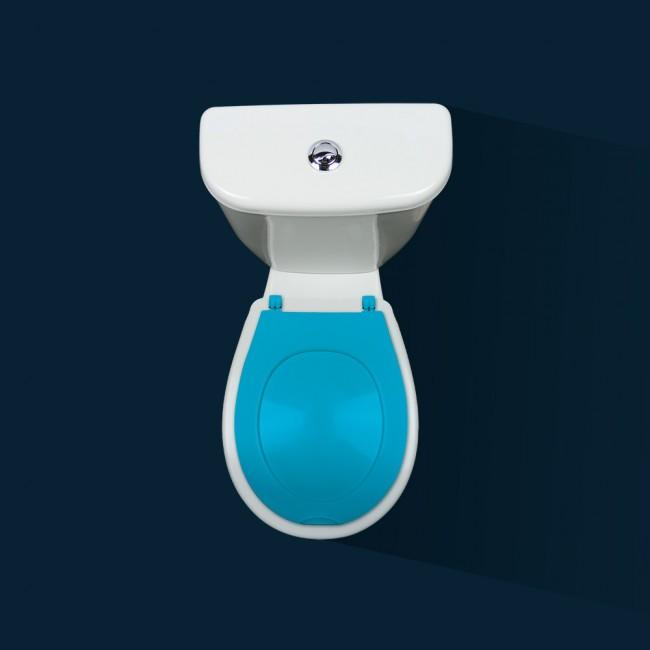Abattant wc clipsable - 100 % hygiénique - bleu PAPADO