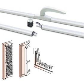Crémone en applique - aluminium laqué - réversible - Lothus FAPIM
