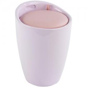 Tabouret/bac à linge pour salle de bain - Candy - ABS WENKO