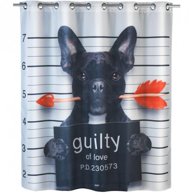 Rideau de douche anti-moisissure - Guilty Dog - 180 x 200 cm WENKO