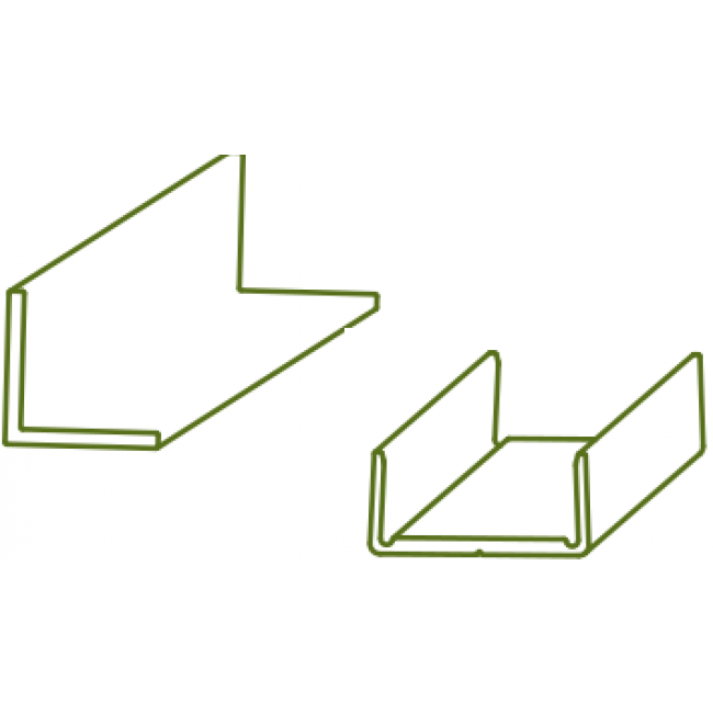 Profil inférieur encadrement pour système coulissant Symfo ROB