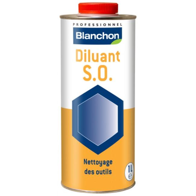 Diluant nettoyant sans odeur - 1 litre - S.O. BLANCHON