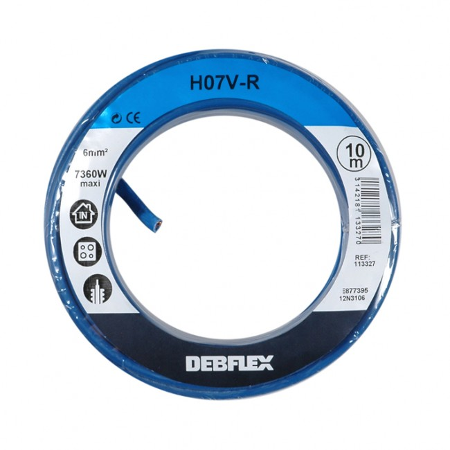 Fil rigide HO7V-R - 6 mm² DEBFLEX
