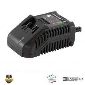 Chargeur de batterie pour outils EnergyHub - 18 Volts - ENERGYHUB-3 PEUGEOT