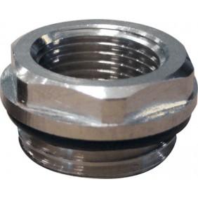 Réduction mâle 15x21 - femelle 5x10 pour radiateur acier RIQUIER