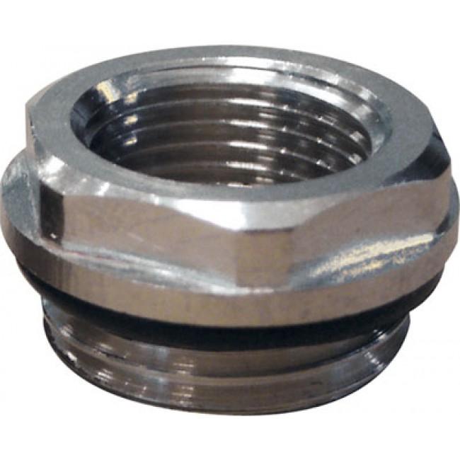 Réduction mâle 15x21 - femelle 12x17 pour radiateur acier RIQUIER