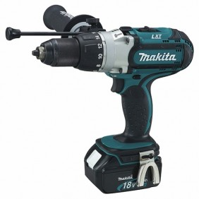 Perceuse visseuse à percussion sans fil 18V lithium DHP451RMJ MAKITA