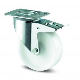 Roulette pivotante à blocage total - polyamide - à platine - Alpha TENTE