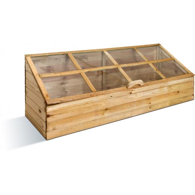 Serre de jardin en bois - châssis quadruple - 305 litres JARDIPOLYS