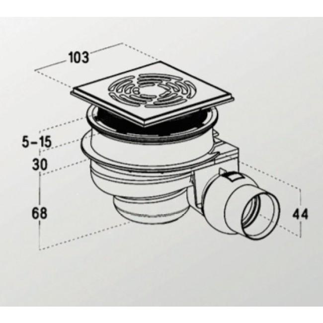 receveur pr t carreler avec siphon de sol 180x90 cm. Black Bedroom Furniture Sets. Home Design Ideas