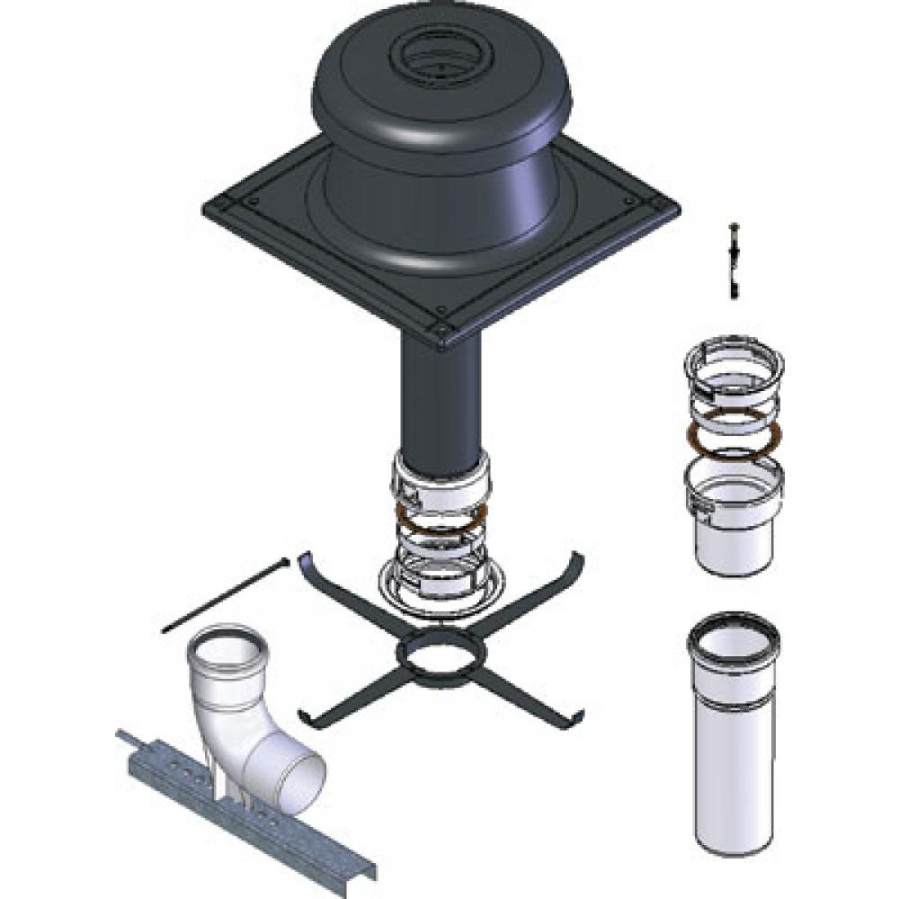 kit pour chaudi re condensation diam tre 110 mm pp flexible ten bricozor. Black Bedroom Furniture Sets. Home Design Ideas