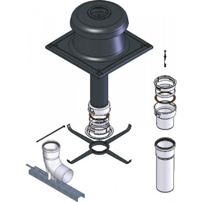 Kit pour chaudière à condensation - diamètre 110 mm - PP flexible TEN