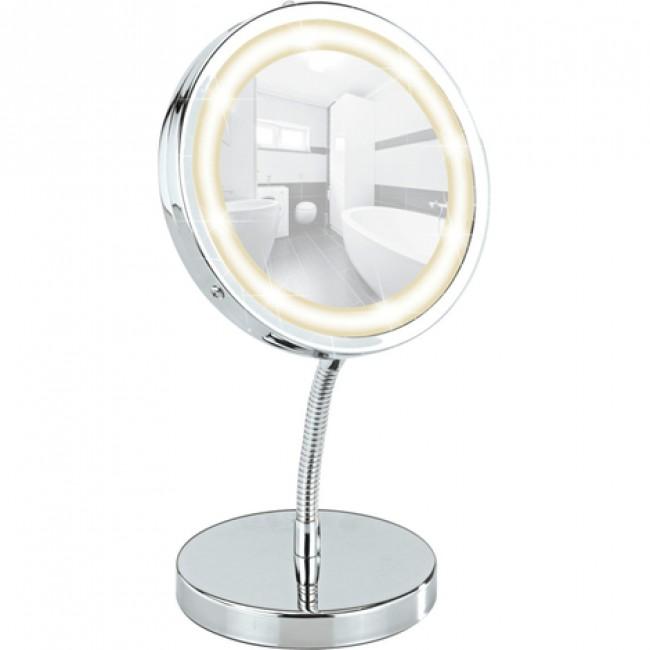 Miroir grossissant x3 - Brolo - À pied orientable - Lumière LED WENKO