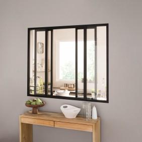 Kit verrière coulissante avec vitrage - 4 panneaux - 108 x 123,2 cm Kit Atelier