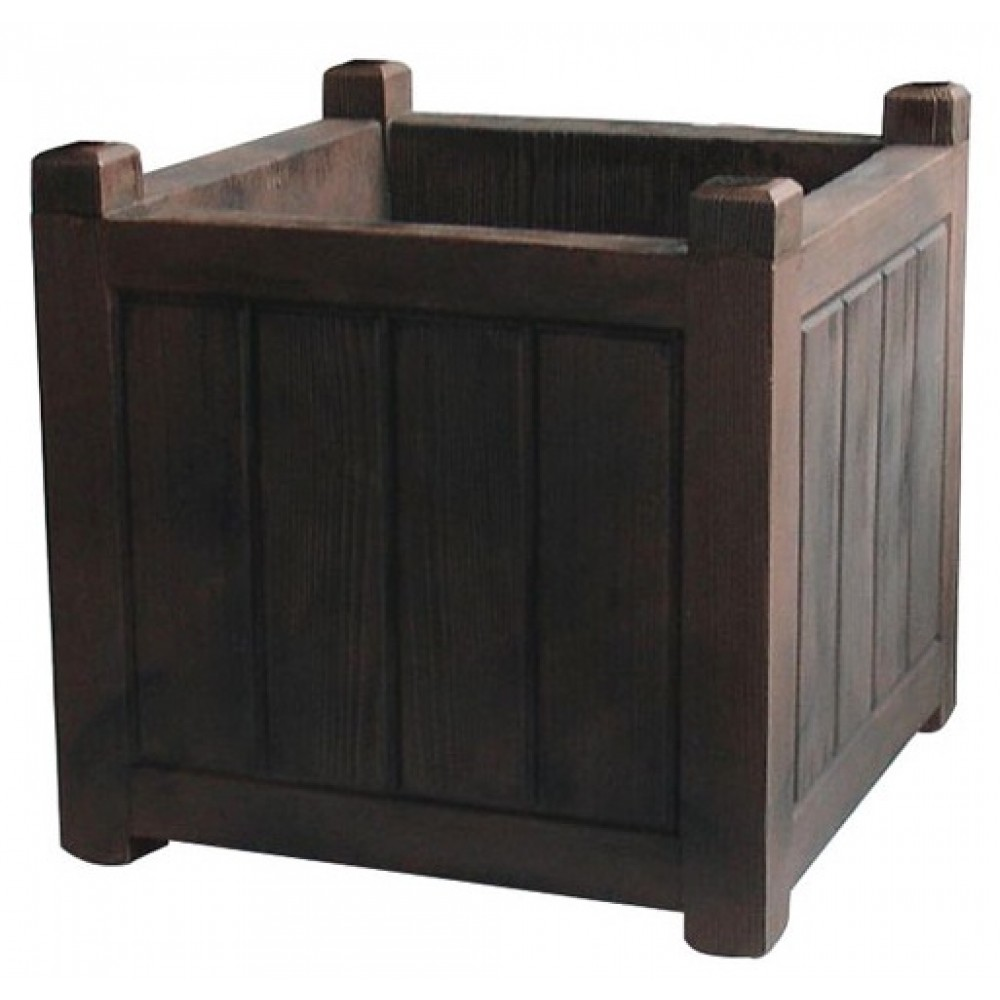 bac carr bois fonc 67 litres charme 13815 eda plastiques bricozor. Black Bedroom Furniture Sets. Home Design Ideas