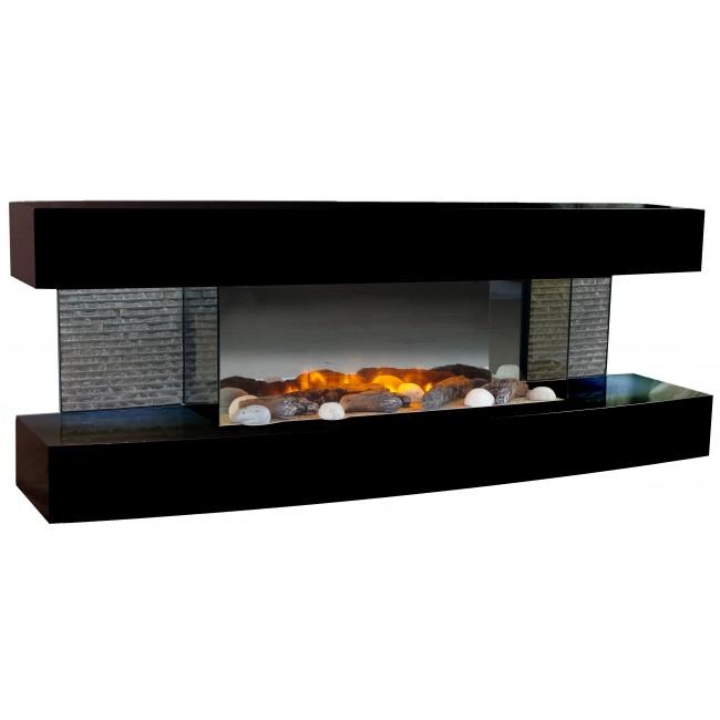 Cheminée électrique Design - Lounge - Noire - 2000W CHEMIN' ARTE