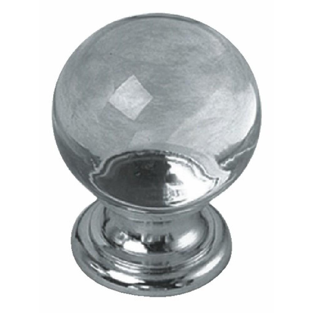 Boutons de meuble cristal-embase laiton massif BRICOZOR   Bricozor