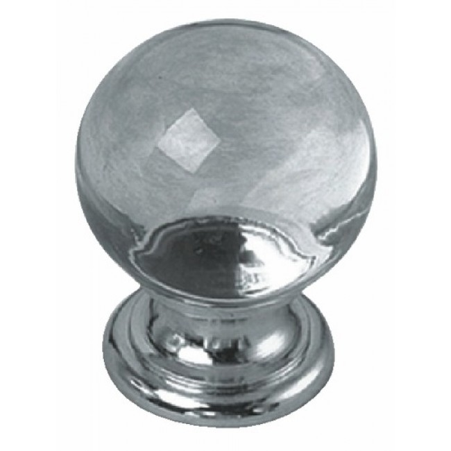 Boutons de meuble cristal-embase laiton massif BRICOZOR