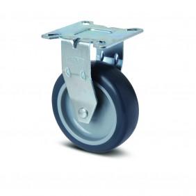 Roulette fixe pour présentoirs légers - fixation platine - Agila TENTE