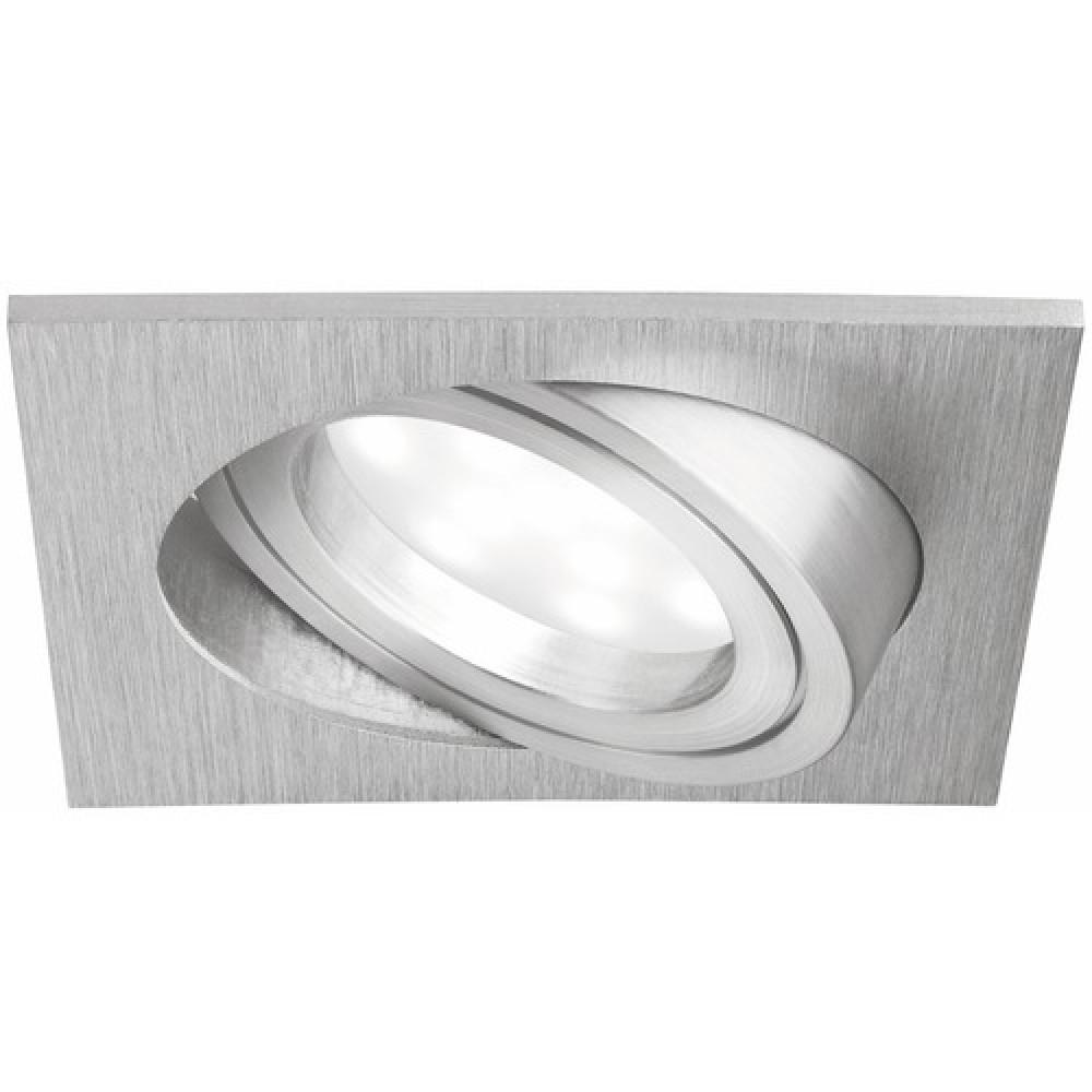 spot orientable encastr led coin collerette carr e paulmann bricozor. Black Bedroom Furniture Sets. Home Design Ideas