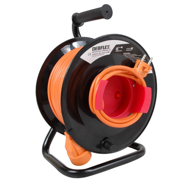 Enrouleur de jardin - HO5VVF 3G1.5 - orange DEBFLEX