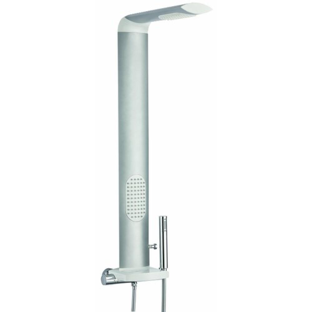 Colonne de douche hydromassante aluminium anodis is 39 me - Colonne aluminium prix ...
