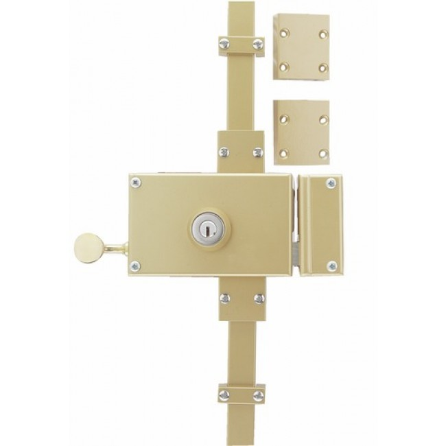 serrure en applique horizontale 3 points keso omega a2p jpm bricozor. Black Bedroom Furniture Sets. Home Design Ideas