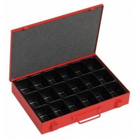 Boîte à outils métal - 18 cases Sori