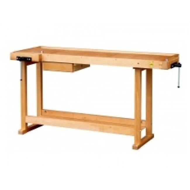 Établi bois - menuisier - à rayon - 1,50 m - 2 presses horizontales OUTIFRANCE