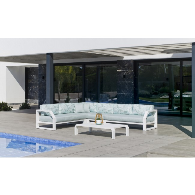 Salon de jardin en aluminium - ZAFIRO HEVEA