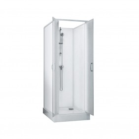 Cabine de douche Surf 5 - 70x70 cm - accès de face - portes battantes LEDA
