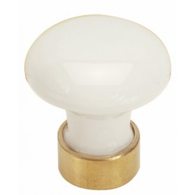 Boutons de meuble en porcelaine blanc MÉRIGOUS