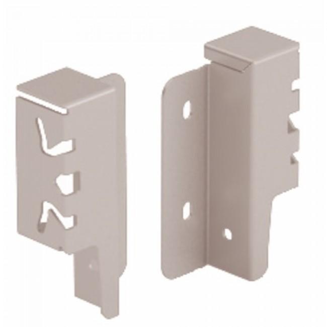 Raccords de paroi arrière pour tiroir ArciTech-H94 mm-argent HETTICH