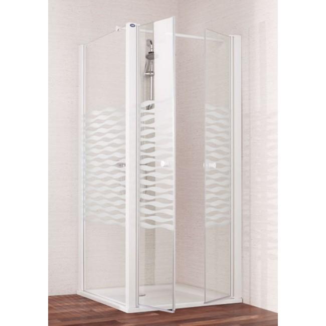 Portes battantes sérigraphiées Saloon 80x185cm - SUN LEDA