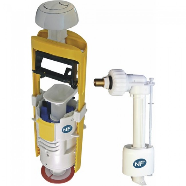 Mécanisme de chasse d'eau universel - double débit - Mecador 63500 REGIPLAST