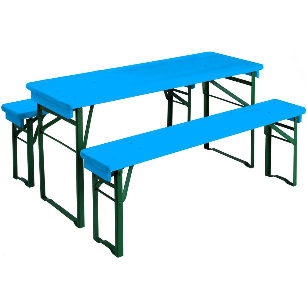 table pique nique enfant mini brasseur bleue bricozor. Black Bedroom Furniture Sets. Home Design Ideas
