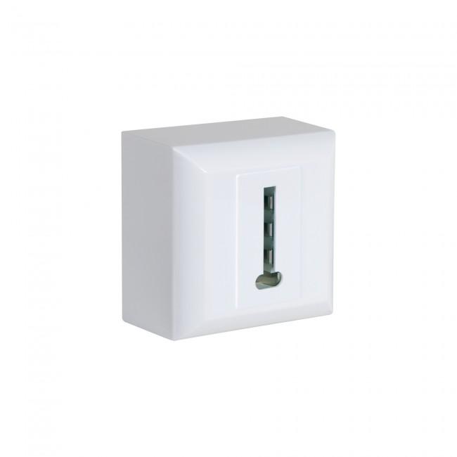 Prise téléphone - en saillie - blanc - éco DEBFLEX