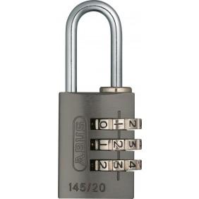 Cadenas à code personnalisable - corps aluminium anodisé - 145 ABUS
