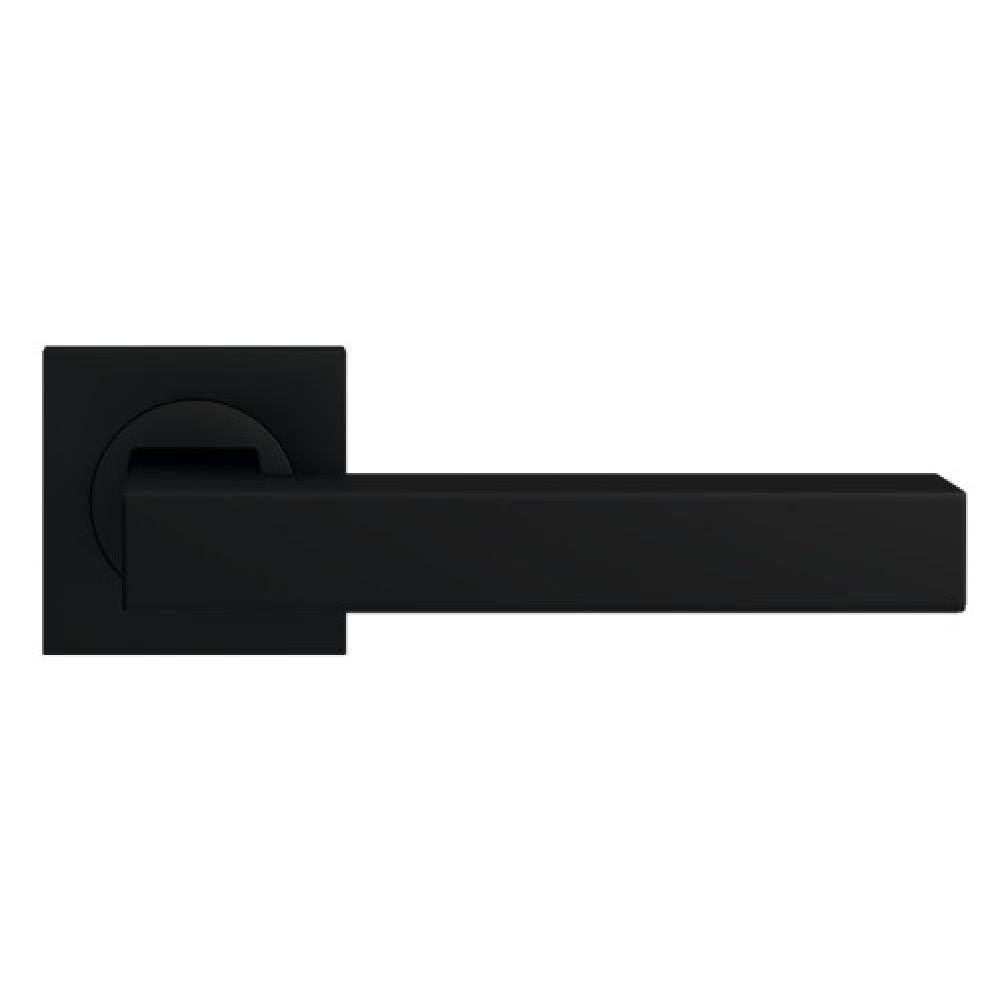 Beau Poignées De Porte Sur Rosaces Carrées   Noir Cosmos   ER 46 Q Seattle  KARCHER DESIGN