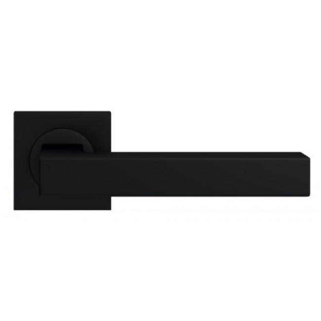 Poignées de porte sur rosaces carrées - noir Cosmos - ER 46 Q Seattle KARCHER DESIGN