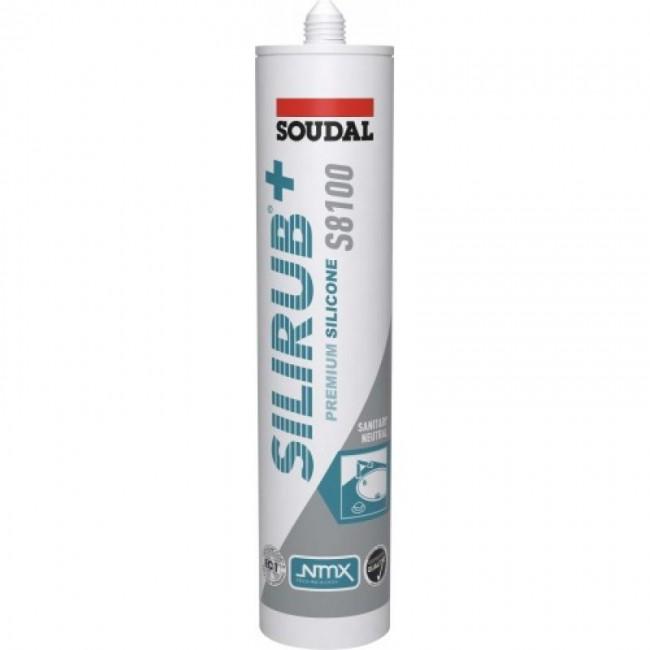 Mastic silicone sanitaire - neutre - 310 ml - Silirub+ S8100 SOUDAL