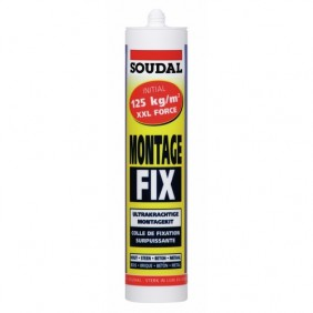 Colle acrylique - fixation surpuissante - 300 ml - Montage Fix SOUDAL