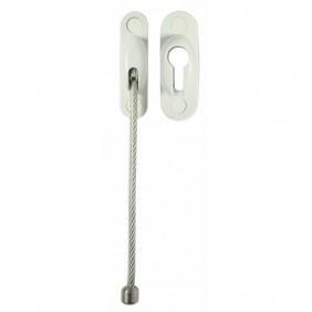 Entrebâilleur de porte - câble acier gainé 170 mm-  Secury'cable SOCONA
